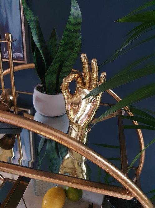 Gold 'OK' Hand Figure