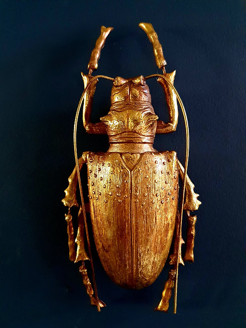 Gold Longhorn Beetle Wall Decor
