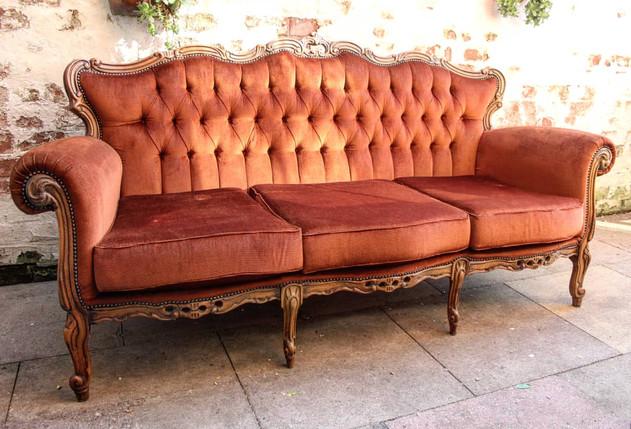 Vintage Burnt Orange Sofa