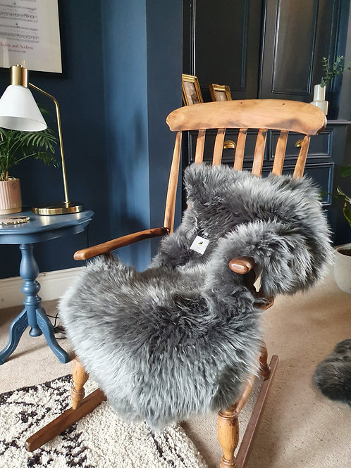 Extra Large Grey Sheepskin