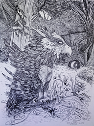 Pen & Ink Drawings on Paper