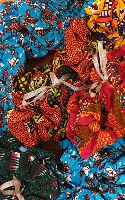 GTP- Ghana Textile Production scrunchies