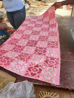 Penultimate stage of Batik process