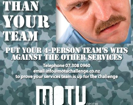 Charity challenge to boost Motu event