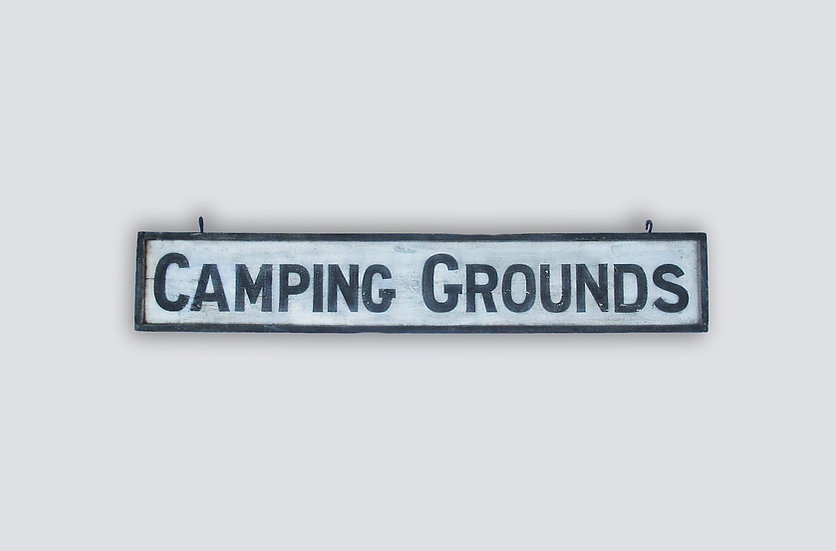 Camping Grounds Signage