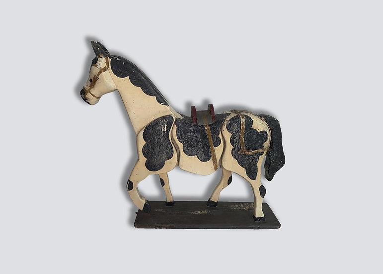 Prancing Wood Horse