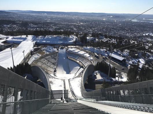 Holmenkollen skischans en ski arena