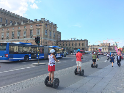 Segways in Stockholm