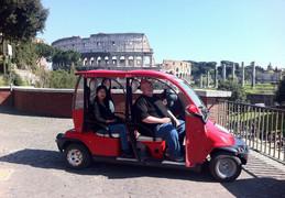 Per golfkar door Rome