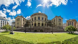 Oslo Stortinget, het parlementsgebouw