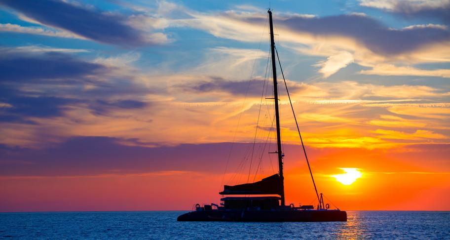 Chillen op de catamaran