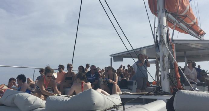 Borrelen op de Catamaran