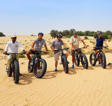 Fat bike tour Dubai Desert