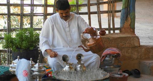Theeceremonie bij de Berbers