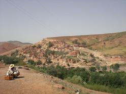 Berberdorp in het Atlasgebergte in Marokko