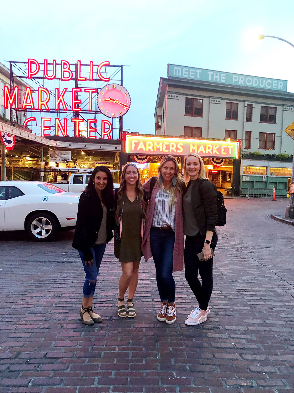 Carrin, Laura, Shannon and I at Pike Place