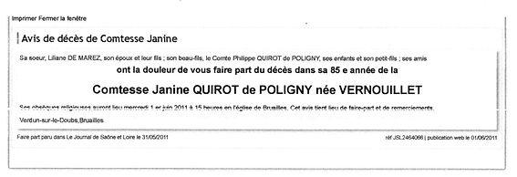 Quirot de Poligny