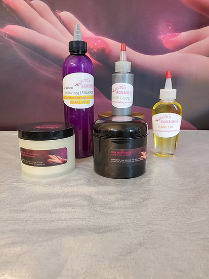 All Natural Hair Care Set Promotes hair growth and restore hair back to hea...