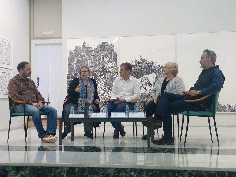 Coloquio DKV Coleccionismo y arte contemporáneo. Fundación Caja Castellón (2017)  Antonio Alcaraz, Pilar Dolz, Alfredo Llopico, Alicia Ventura, Joël Mestre