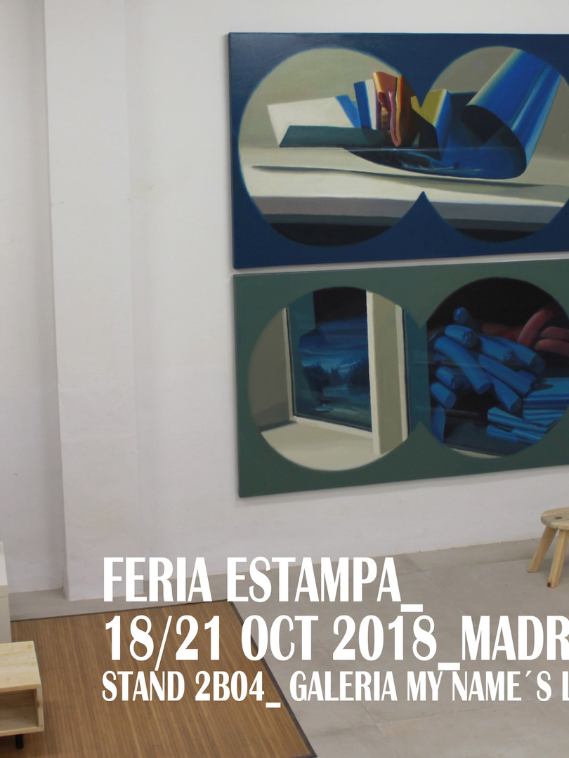 ESTAMPA Feria de Arte contemporaneo_2018 (IFEMA,Madrid) 26 Edición_  Stand Galeria my Name's Lolita Art (Madrid) Jorge Hernandez, Angel Mateo Charris, Joël Mestre y Paco Pomet