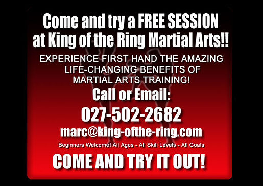 Free Trial Session at King of the Ring Martial Arts