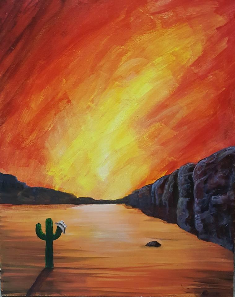 Fire Sky in the Desert