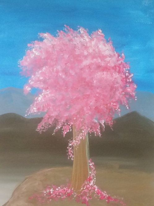 Whimsical Tree Acrylic Painting