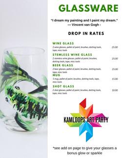 Glassware Menu