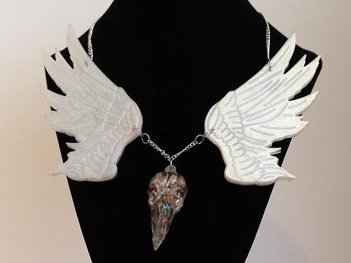 Raven Skull Resin Sould Collar Necklace