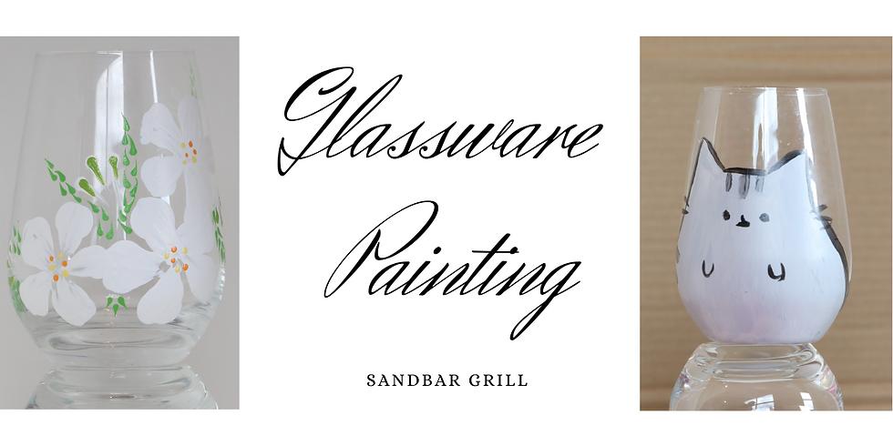 Glassware Art Party at Sandbar Grill