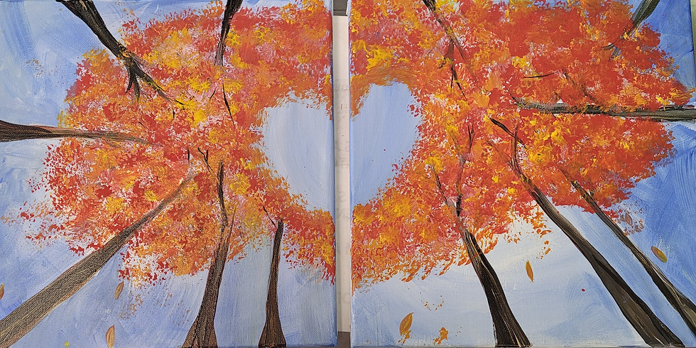 Fallin' In Love Acrylic Painting