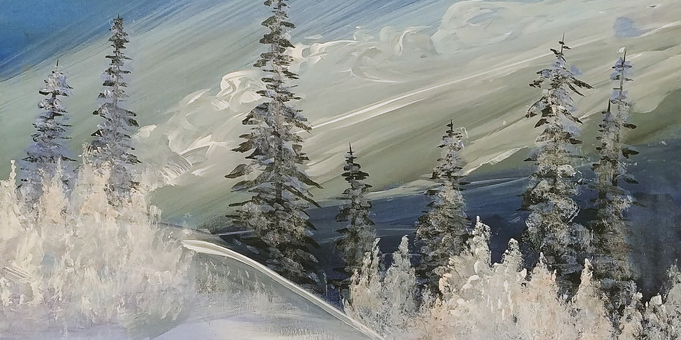 Winter Wonderland Acrylic Painting