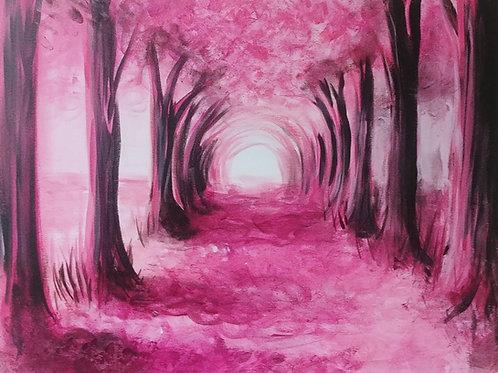Spring Path Acrylic Painting
