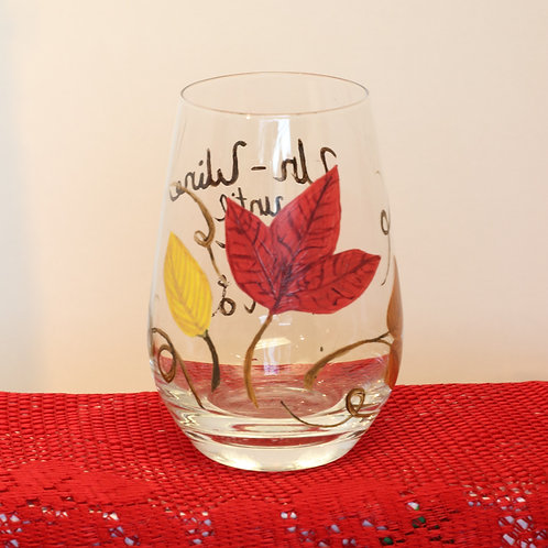 Fall Wine Glass