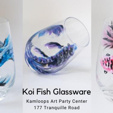 Koi Fish Glassware