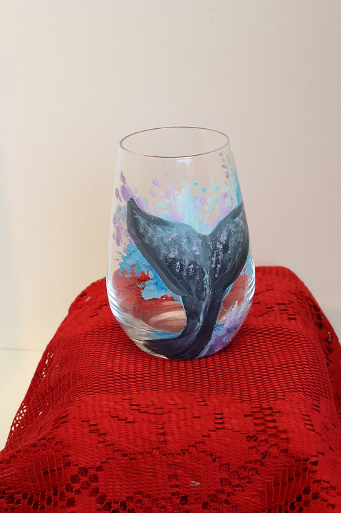 Double Sided Dolphin Wine Glass
