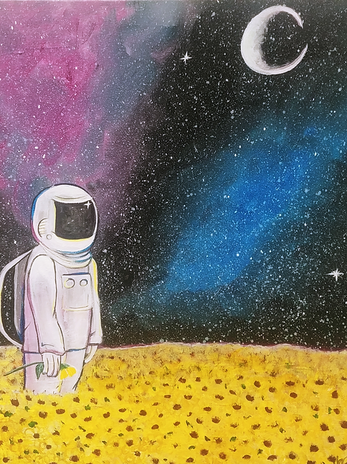 Lost in Space Acrylic Painting