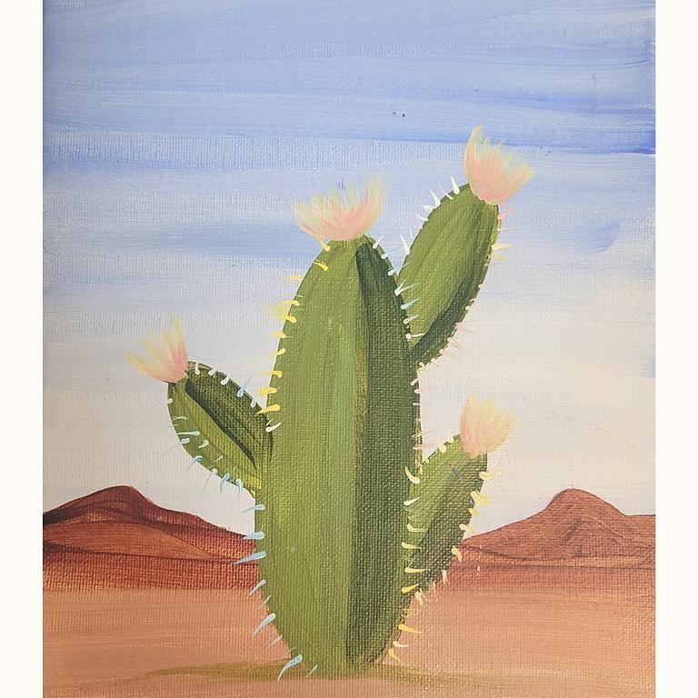 Cactus Acrylic Painting