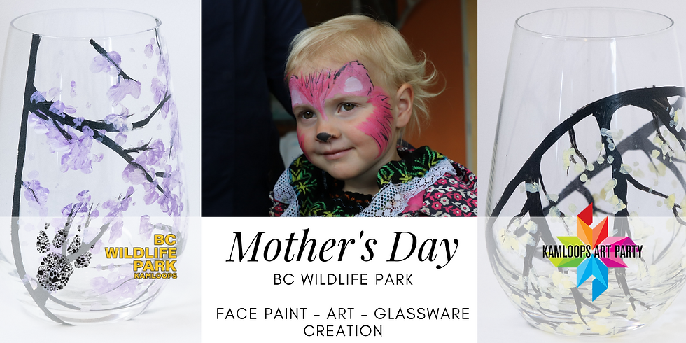Mothers Day Glasware and Face Painting