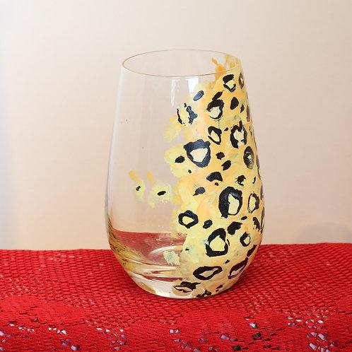 Cheetah Print Wine Glass