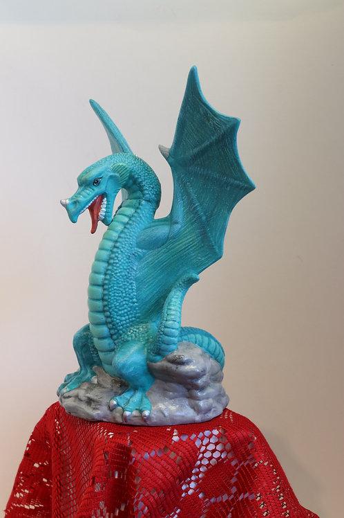 Teal Dragon Ceramic