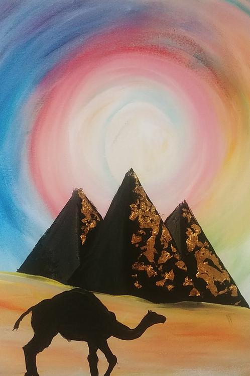 Pyramid Acrylic Painting