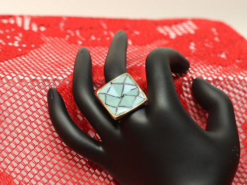 Gold and Teal Ring