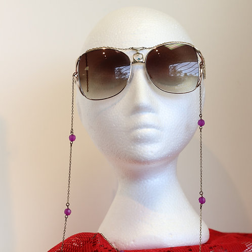 Beaded Sunglasses with Chain