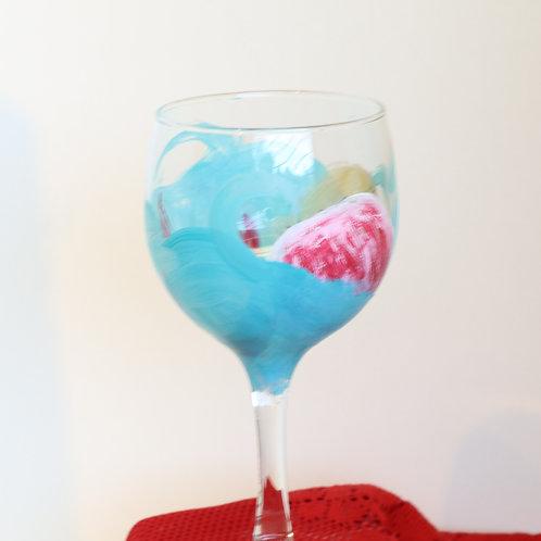 Ocean Wine Glass