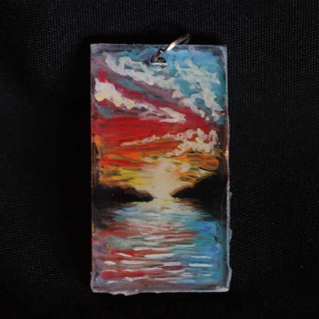 Resin Acrylic Sunset Pendant