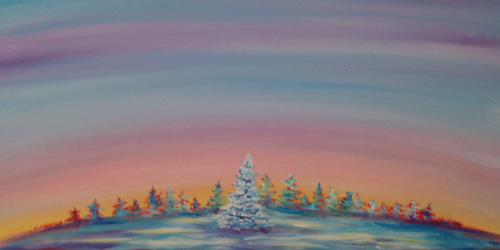Top of the World Acrylic Painting