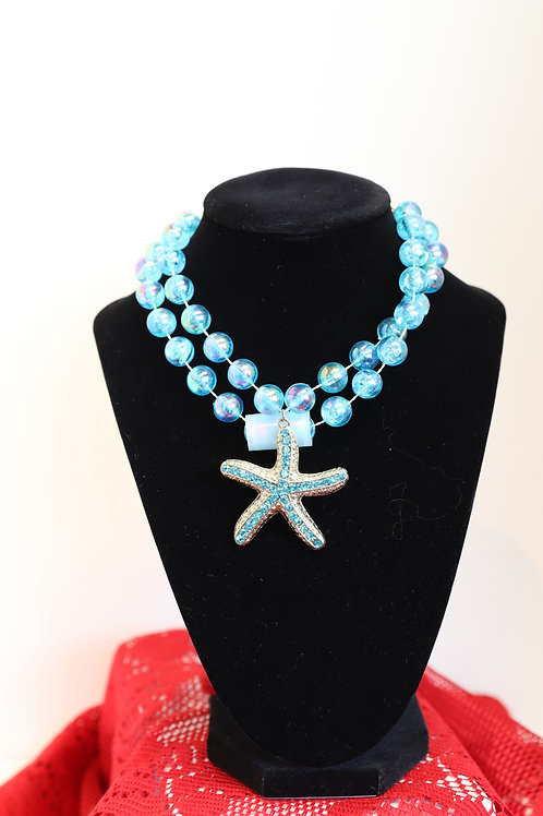 Blue Starfish Long Necklace