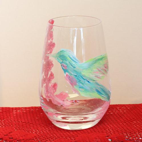 Hummingbird Stemless Glassware