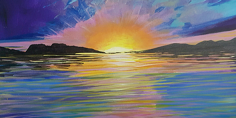 Parkside Community Sunset Painting